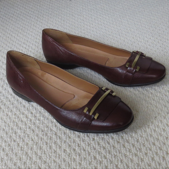 b789fdbbeb82 Naturalizer Brown Leather Ballet Flats Loafers 9M.  M 5af77740a6e3eaddb3d6660d